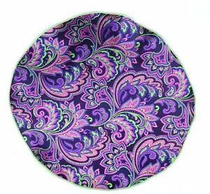 Lord R Colton Masterworks Pocket Round Vesuvi Purple Volt Silk - $75 Retail New