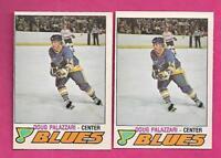 2 X 1977-78 OPC # 354 BLUES DOUG PALAZZARI ROOKIE EX-MT CARD (INV# A9746)
