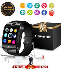 Bluetooth Curved Surface Square Smart Watch Q18 SIM Slot Camera For/Android IOS*