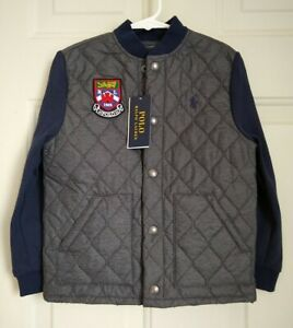 POLO RALPH LAUREN BOY QUILTED MILITARY JACKET, SIZES 6-7
