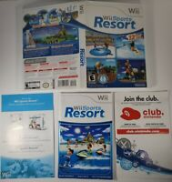 NO GAME! Wii Sports Resort CASE, MANUAL and Inserts ONLY! (Wii, 2009) FREE SHIP