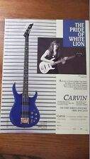 1988 VINTAGE PRINT AD Carvin LB70 Bass James Lomenzo THE PRIDE OF White Lion