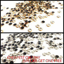 Iron On Hotfix Crystal Beads for Nails Necklace Watch in Various Size 2 Colours
