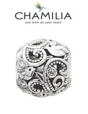 Genuine CHAMILIA 925 silver & Swarovski FLOURISH charm bead, birds, growth