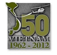 Vietnam 50th Map Lapel Pin