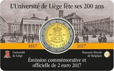 BELGICA 2 EUROS 2017 - CONM. UNIV. DE LIEJA - EN COINCARD - VERSIÓN FRANCESA