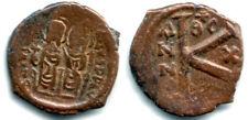 Type 2 Ae half follis of Justin Ii & Sophia (565-578Ad), Thessalonica, Byzantine