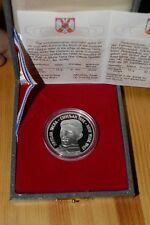 Yugoslavia 200 Dinara 1996. Nikola Tesla, SILVER coin, Proof. KM#170