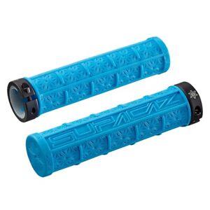 SupaCaz Grizips Neon Blue Handlebar Grips - Lock On - Lightweight XC MTB