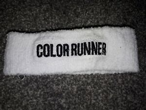 """White Head Sweat Band """"Color Runner"""""""