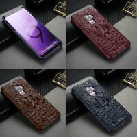 Genuine Leather Crocodile Back Case Cover For Samsung Galaxy Note 8 / S8 S9 Plus