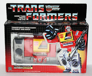 G1 Blaster 1985 Transformers Autobot With Box - Very Nice