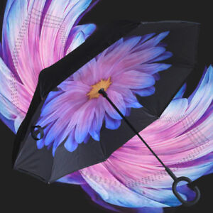 C-Handle Inverted Inside-Out/Upside Down/Reverse Opening Umbrella 20% Off