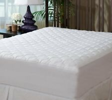 Bed Mattress Pad Cover Protector Full Size Fitted Quilted Hypoallergenic White