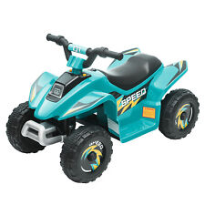 6V Kids Ride On Toy Battery Powered Beach Car ATV Quad Motorcycle 4 wheel w/Horn