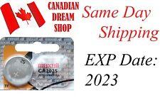 1 PC Fresh MAXELL CR2025 2025 3V lithium batteries battery Hologram EXP:2023