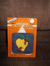 NIP Square Jean Applique/Patch with Worm in Apple