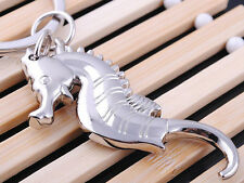 HJ023 Sea Horse Keyring Hippocampus Classic 3D Pendant Key Chain Creative Gift