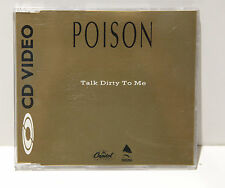 RARE! Collectible Poison Talk Dirty To Me Gold NTSC CD Video Promo FS