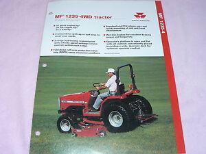 Massey Ferguson 1235-4WD Tractor Dealer's Brochure