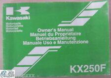 Kawasaki manual uso o mantenimiento KX250F