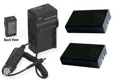 TWO 2 EN-EL9 En-EL9A Batteries + Charger for Nikon DSLR D40 D40X D60 D3000 D5000