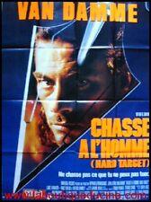 CHASSE A L'HOMME Affiche Cinéma Poster Roulé VAN DAMME
