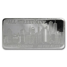 10 oz Silver Wall Street Mint Bar - Type 1 - SKU #22858