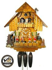 Original Kuckucks-Uhr Schwarzwald-Haus 8-Tage Musik-Kapelle Musik Tänzer