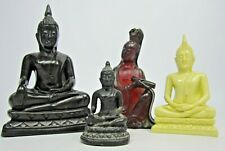 4 x Small Vintage Buddha Figurines - Buddhist