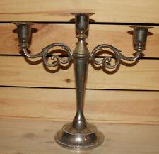 Vintage ornate metal candle holder candelabra