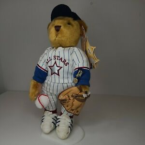 """12"""" Ace Brass Button Base Ball All Stars Sports Bears With Tags And Stand"""