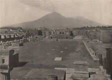 POMPEII. View of the Forum, with Vesuvius in the background. Italy 1895 print