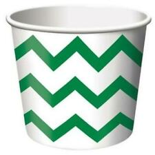 Chevron Stripe Treat Cups Green 6 Pack Green Decorations & Party Supplies