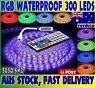 Waterproof 5050 RGB 5M 300 LEDs SMD LED Strip Lights 12V + 44 Key IR Controller