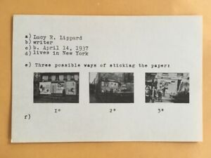 (9) DANIEL BUREN postcards 1969 Lucy Lippard 557,087 exhibit seattle vancouver