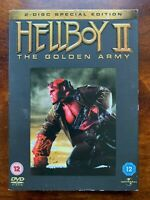 Hellboy 2 DVD 2008 Supereroe Action Film 2-Disc W/Copertina