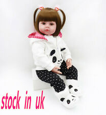 """Reborn Dolls Child's Toy Soft Silicone Safe18"""" Real Life Birthday Gifts Big Doll"""
