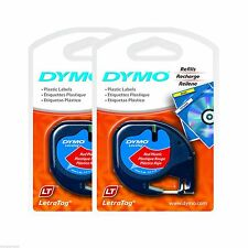 2PK Sealed Dymo LetraTag Cosmic RED Refill Label Tapes Letra Tag LT XR Plus QX50