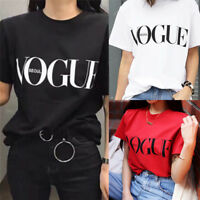 Fashion Girl Short Sleeve Tops Clothes For Women Vogue Letter Printed T-shirt IA