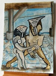 Super cute Cubism Picasso study model Nudes canvas oil painting ONE of a kind