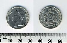 Venezuela 1967 - 1 Bolivar Nickel Coin - Head of Bolivar left