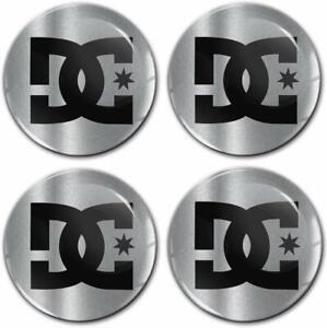 4 x 60mm Autocollant 3D Cache-Moyeux Enjoliveurs Centre de Roue DC Logo Stickers