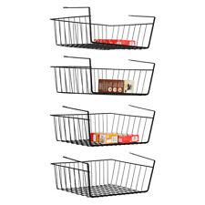Set of 4  Under Cabinet Basket Storage Shelf Hanging Basket Organizer for Pantry