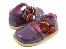 Nib Livie & Luca Shoes Blue Bell Grape Purple Patent Leather Flower 4 toddler