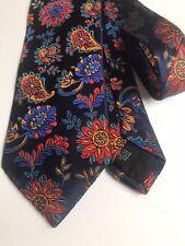 Duchamp 100% Silk tie jewel toned floral pattern