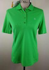 GOLFINO Golf Polo Shirt, Womens Sz 10, Bright Green, Short Sleeves, Stretch, NEW