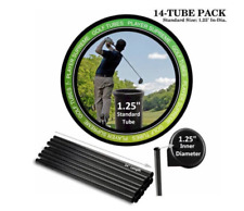 "Golf Club Tubes Bag Putter Dividers Organizer Protector Tube 14-Pack 1.25"" Dia."