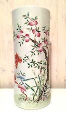 Vintage Chinese Hand Painted Famille Rose Porcelain Vase Drilled