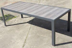 Sandringham 2270mm Outdoor Table - Ceramic top with rust proof aluminium frame
